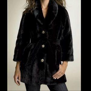 Juicy couture faux fur coat black dressy new $298